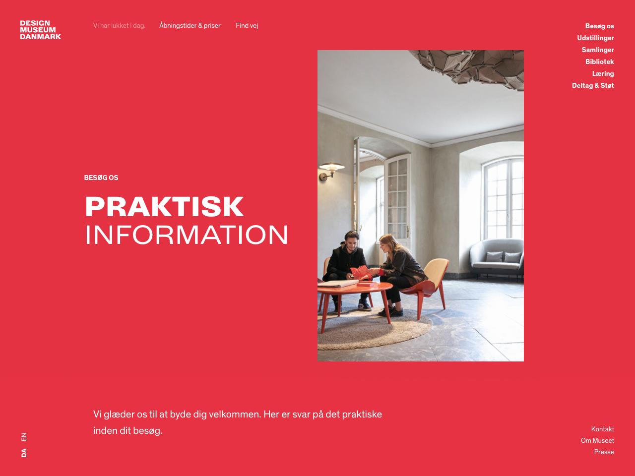 dansk design museum åbningstider